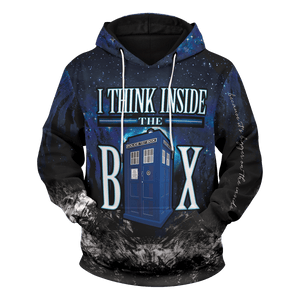 Think Inside The Box Unisex Pullover Hoodie - Fandomaniax-Store