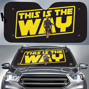 This is the Way Auto Sun Shade - Fandomaniax-Store