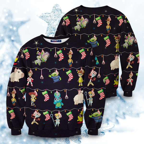 Toy Story Christmas Unisex Wool Sweater - Fandomaniax-Store