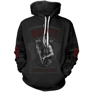 TWD If Daryl Gets Bit I'm Rooting For The Zombies Unisex Pullover Hoodie - Fandomaniax-Store