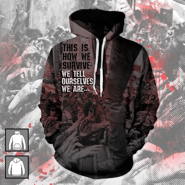 TWD This Is How We Survive Unisex Pullover Hoodie - Fandomaniax-Store