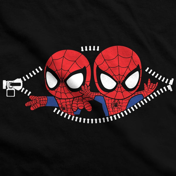 Twin Spiderman Peeking Maternity T-Shirt V2 - Fandomaniax-Store