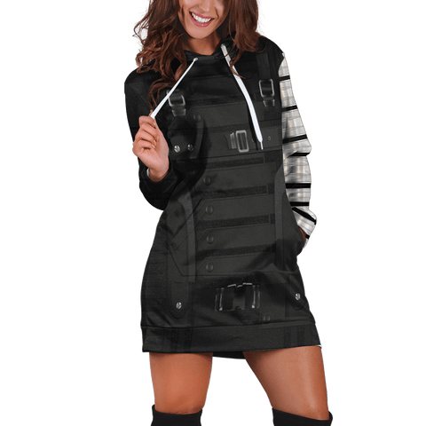 Winter Soldier Hoodie Dress - Fandomaniax-Store