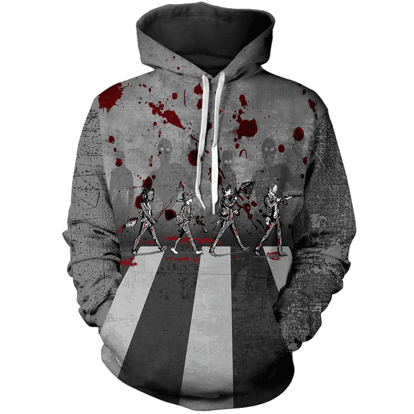 Zombie Road Unisex Pullover Hoodie - Fandomaniax-Store