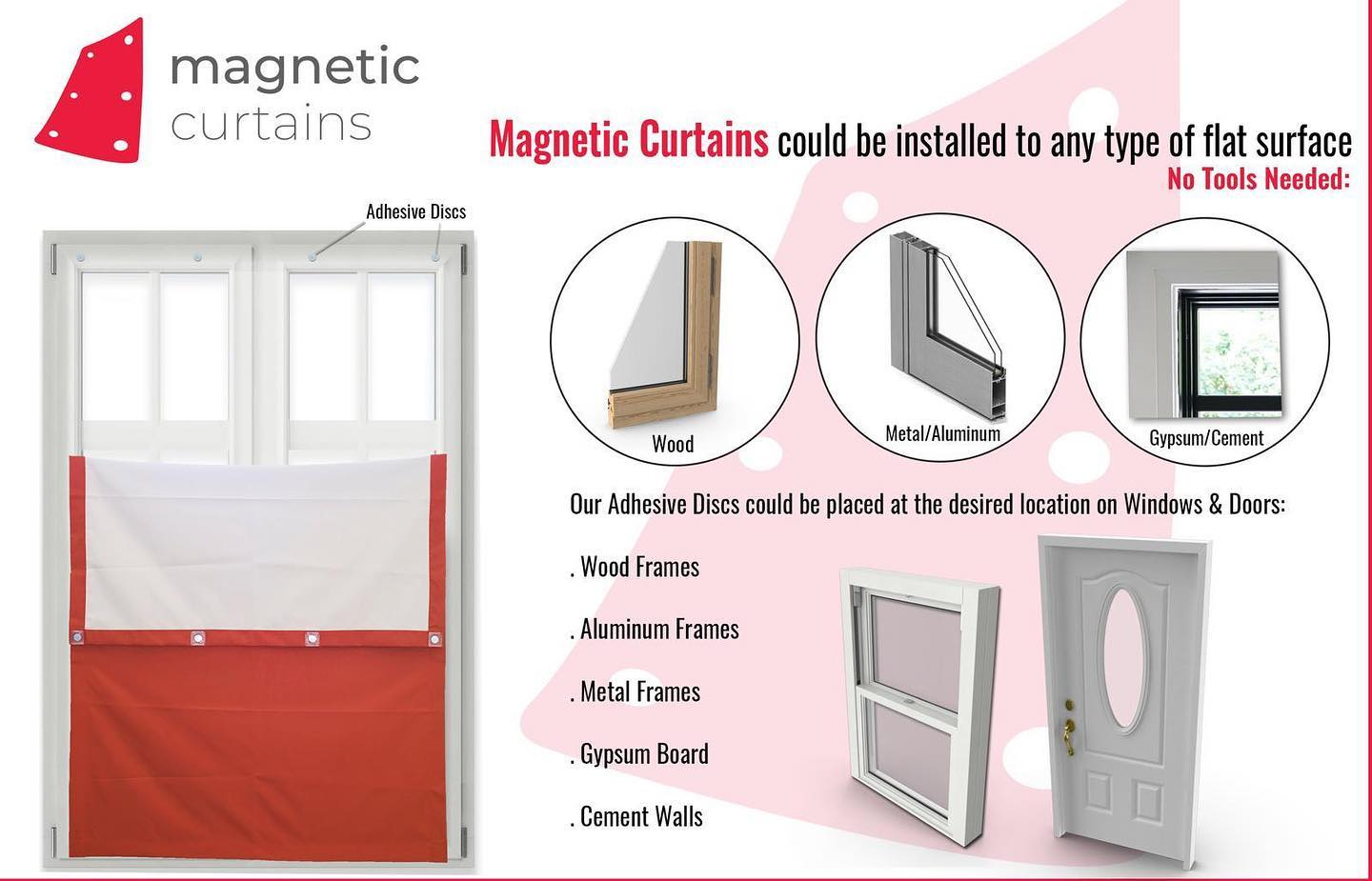 Magnetic Curtains™ - Made To Order Custom - Thermal Insulated Blackout Curtains