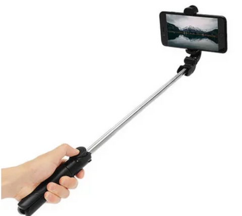 adjustable length selfie stick with hand