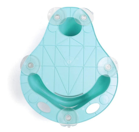 bottom suction cups of blue baby bath chair