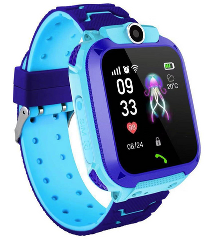 blue childrens gps tracker watch smart phone