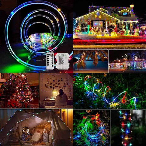outdoor christmas string lights with remote control