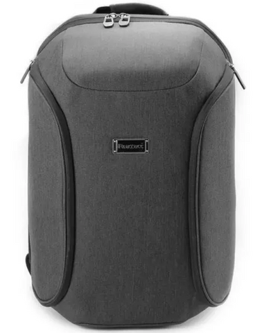 Gray waterproof travel backpack with zippers
