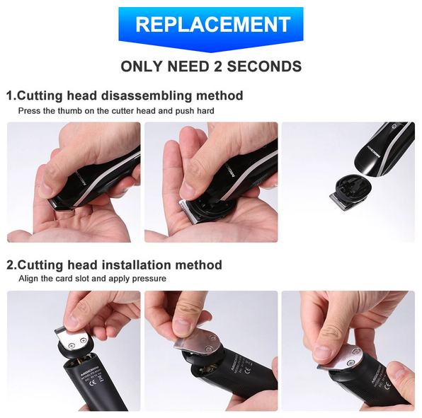 how to replace the blade on men's hair trimmers