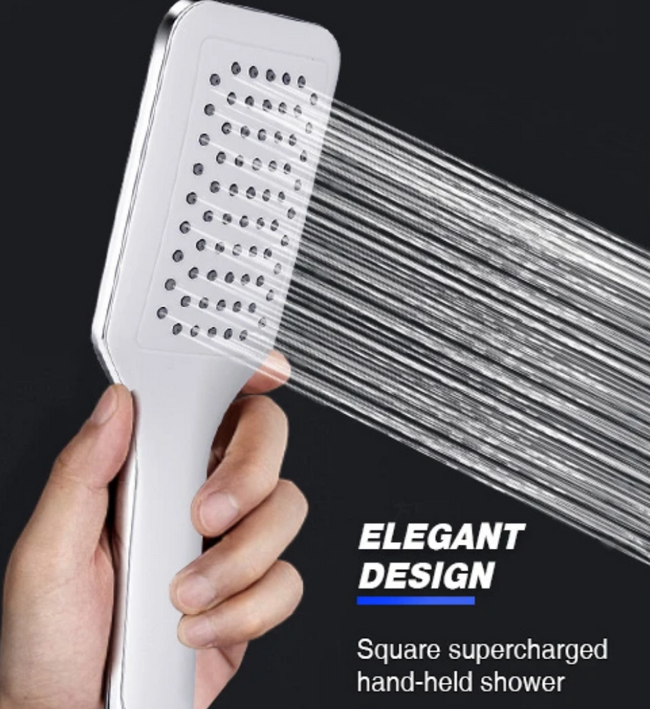 hand held super strong water pressure shower head