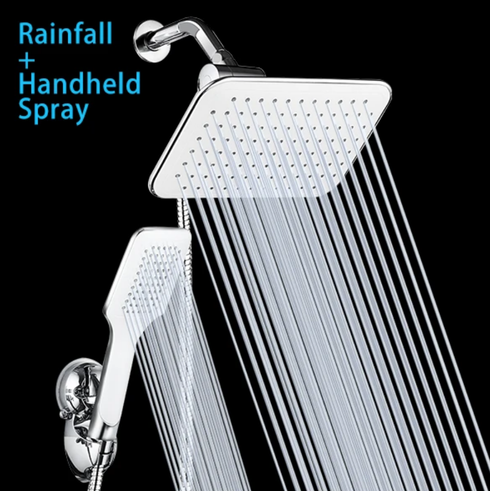 rainfall and handheld spray for waterfall shower head