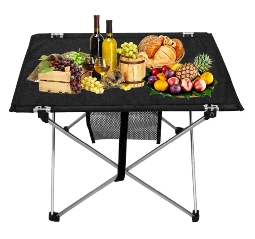 CampPro™ Portable Folding Square Picnic Table Desk With Lightweight Carrier
