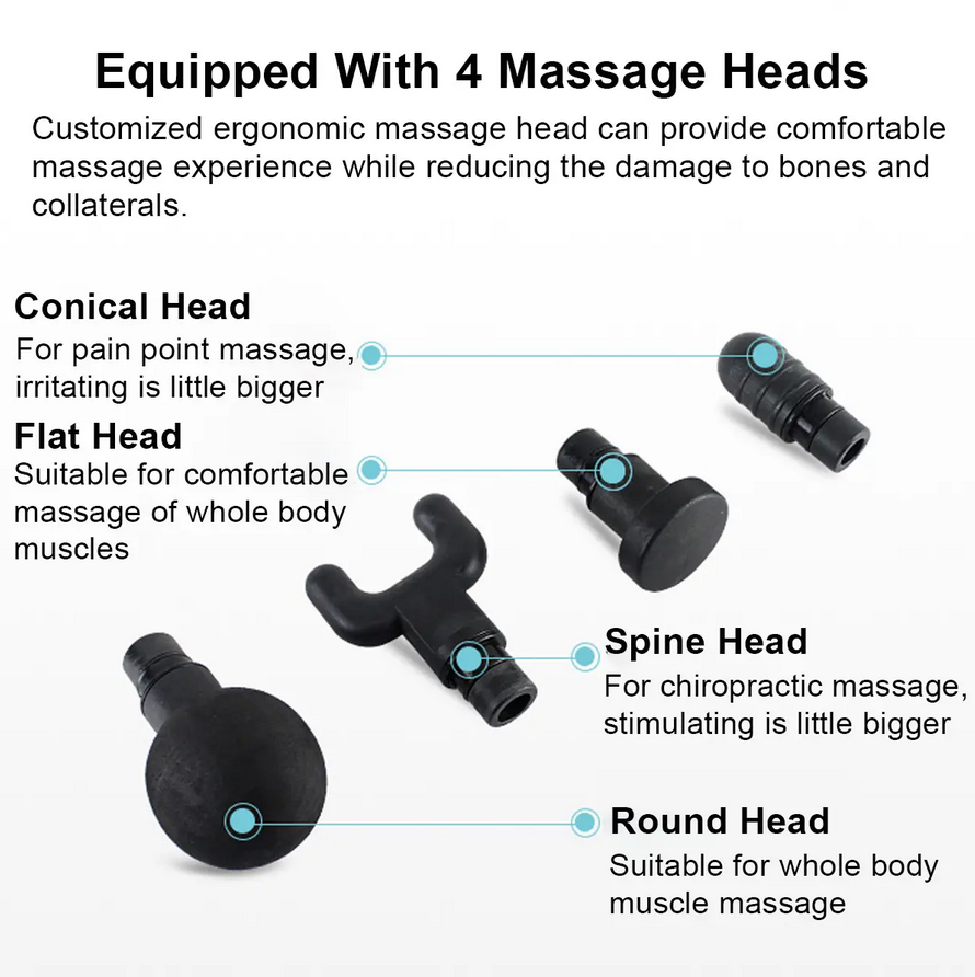 MassagePro™ 20-Speed Handheld Electric Deep Tissue Massager for Percussion Therapy Muscle Relief