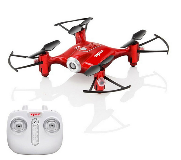 Syma X21 Mini Flying Drone 2.4G RC Quadcopter Micro Small Toy Drone for Kids with Remote Control - Red