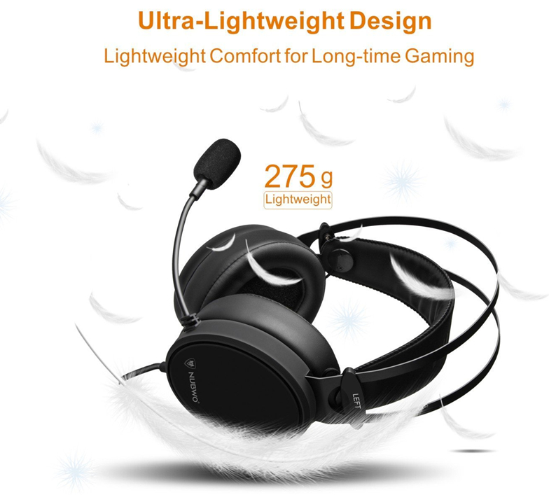 professional gamers headset with 275 grams ultra-lightweight design for comfort with long-time gaming