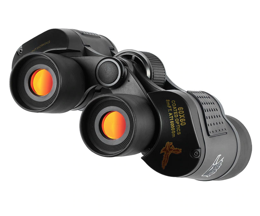 front view of zoom HD binoculars with coated optics for distance camping