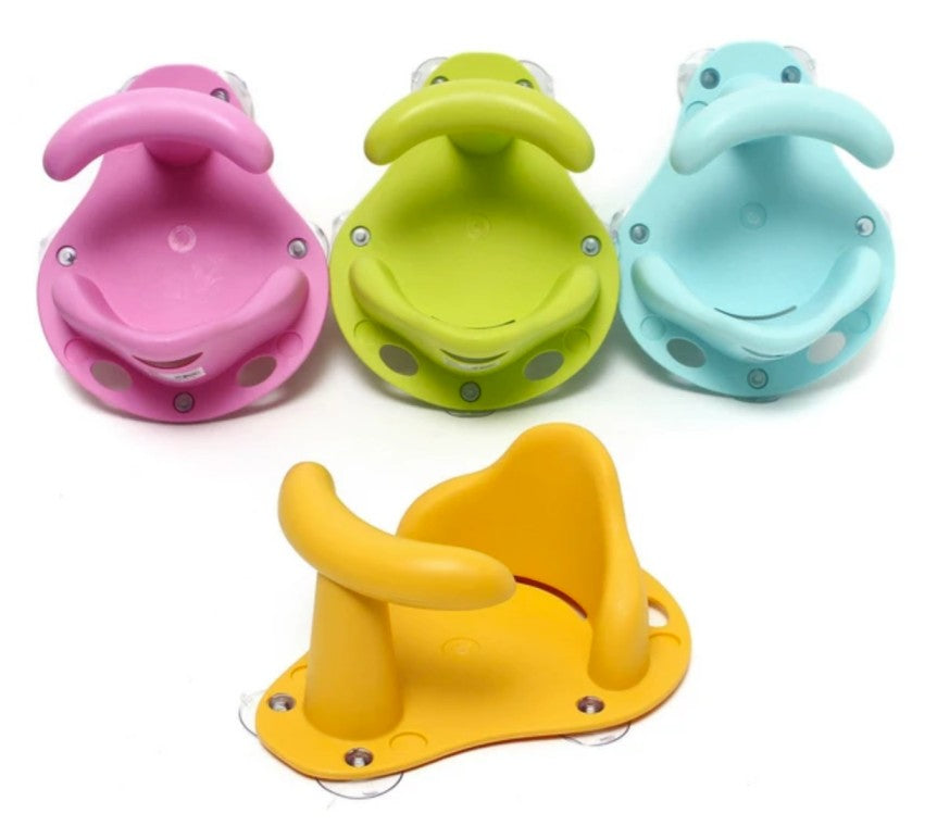 bath bath seats in four colors pink blue yellow green