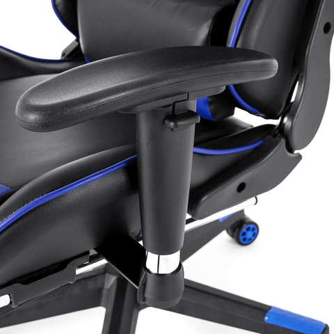 gaming racing chair black and blue
