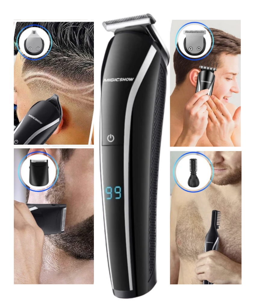 men shaving hair chest beard sideburns with electric men's hair trimmers