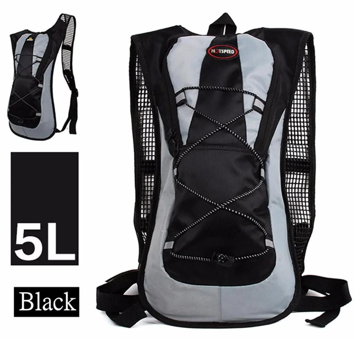 HotSpeed™ Running Hydration Pack 5L Backpack for 2L Water Bladder Bag