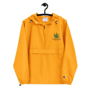 Yellow Gangstaz N Hippies Embroidered Champion Packable Jacket