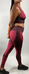 Seamless Sports Bra with Legging 2 pc Set - Legging Fetish