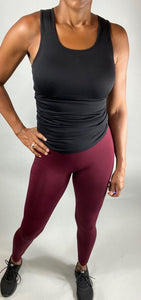 Seamless Classic Legging - Dark Burgundy - Legging Fetish