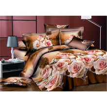 Load image into Gallery viewer, Adeeing 4Pcs/Set 3D Rose Flower Printing Pillowcase Quilt Cover Bed Sheet Bedding Set