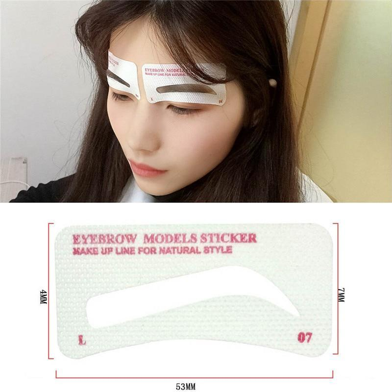 48 Pairs Eyebrow Sticker Stencil
