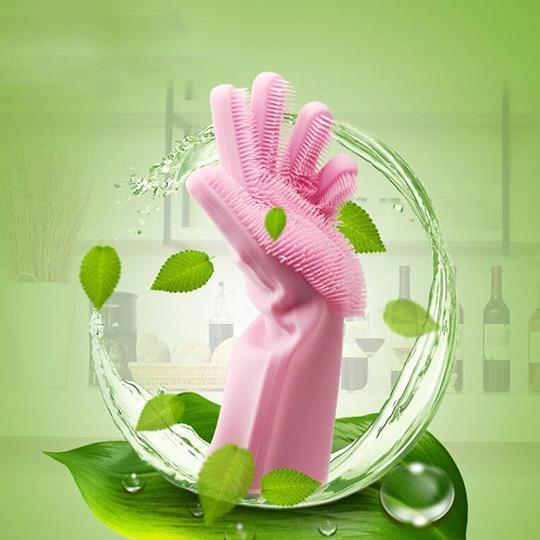 Silicone Cleaning Gloves (1 Pair)