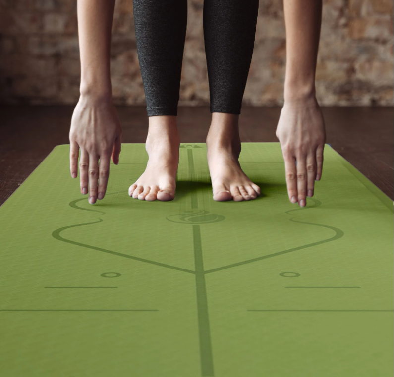 Yoga Mat With Correct Alignment System