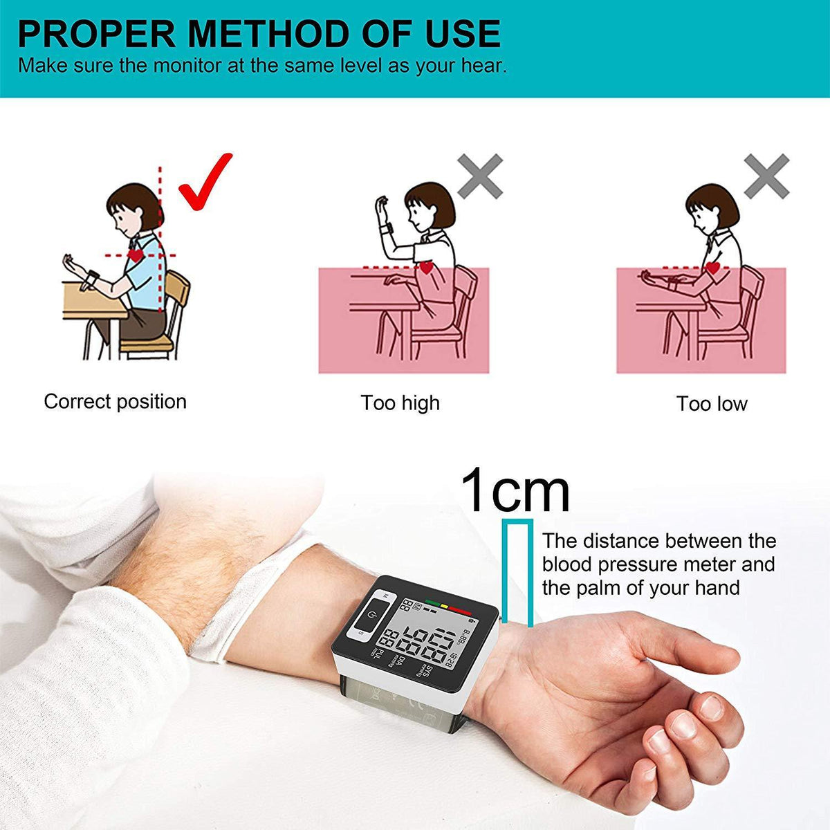 Automatic Blood Pressure Wrist Monitor