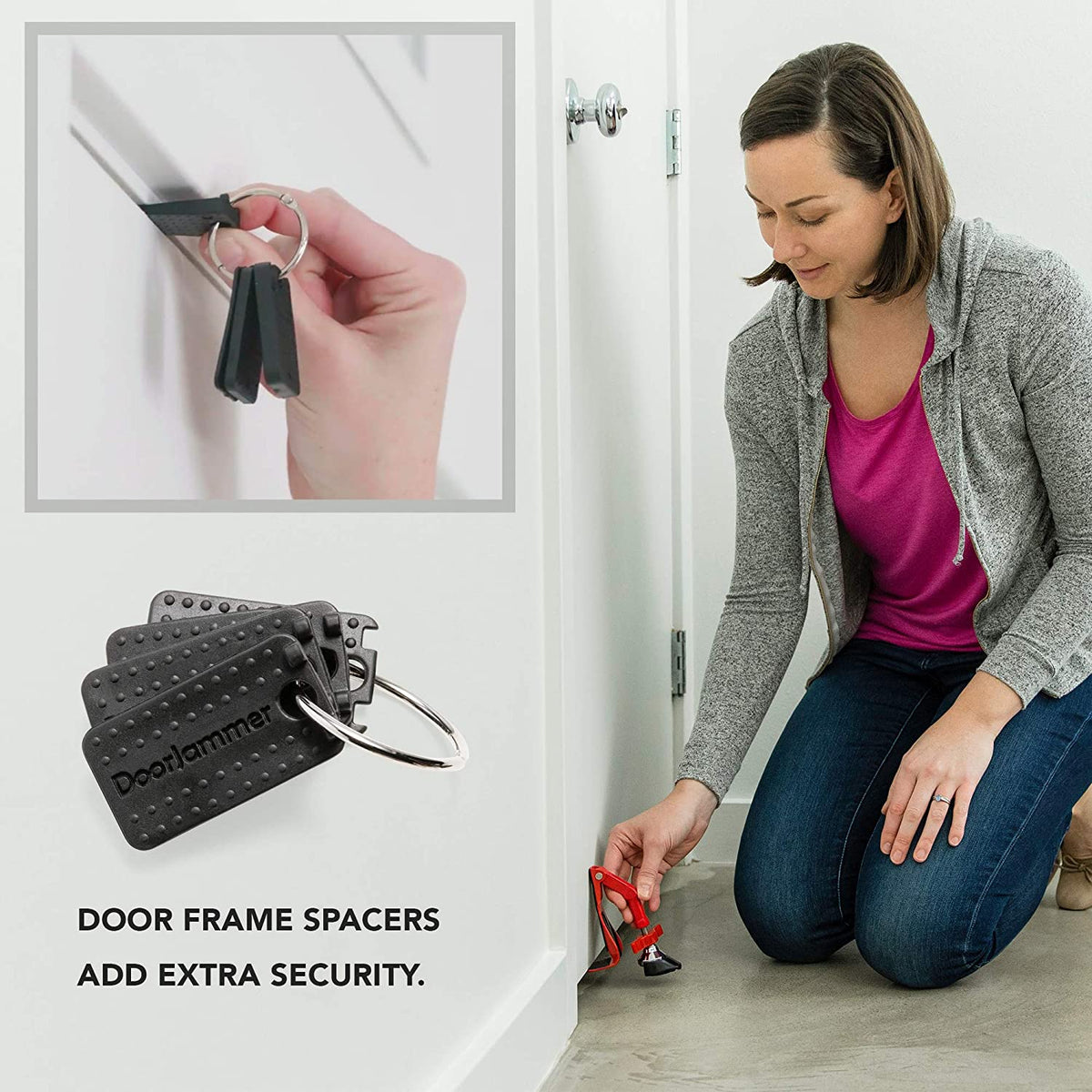 Portable Travel Home Security Door Lock