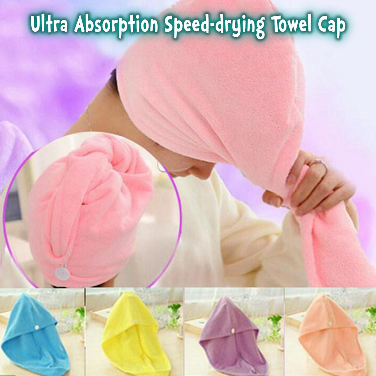 Ultra Absorption Speed-drying Towel Cap