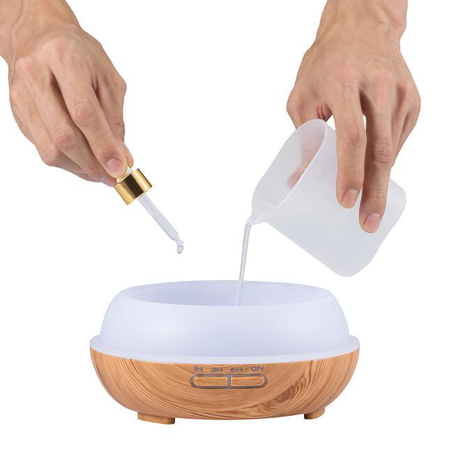 300ml Cool Wood Grain House Mist Humidifier