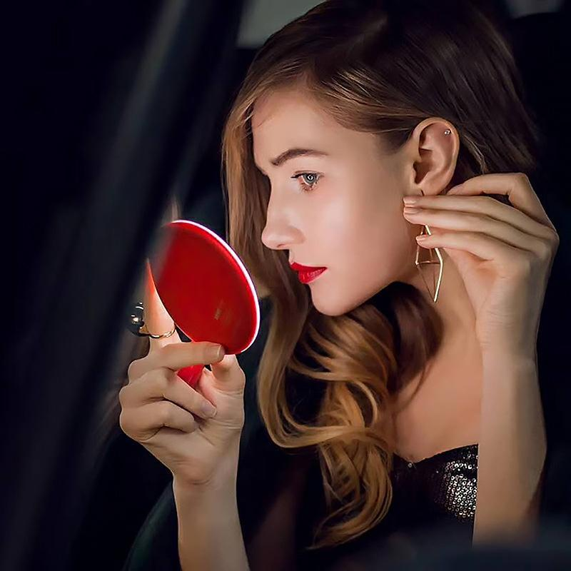 Portable LED Makeup Mirror + Wireless Charger