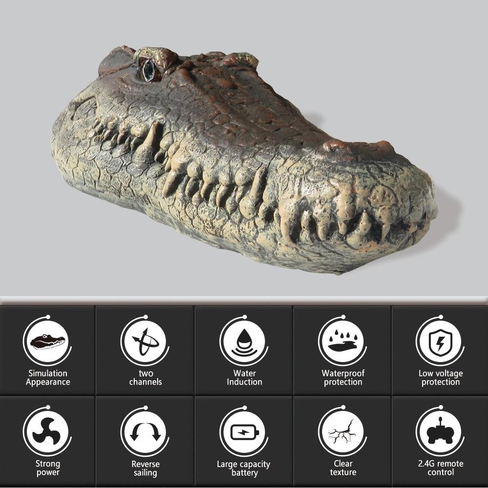 Crocodile Head Remote Control  Boat