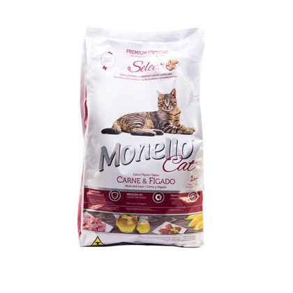Alimento Para Gatos Monello Select Cat Carne e Higado
