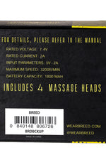 Breed Henry Swiss Quartz Men's Watch w/ Date  -  Silver/Black