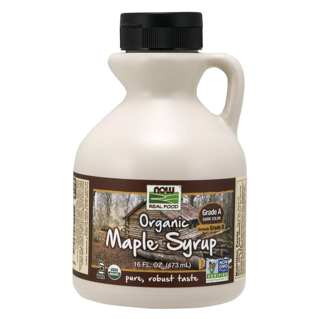 Now Foods, Organic Maple Syrup, Grade A, Dark Color (formerly Grade B) (946ml) - Hu Organics