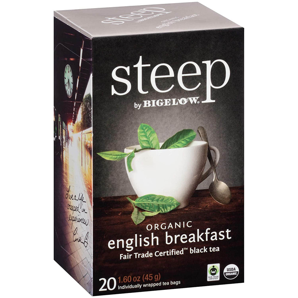 Steep By Bigelow, Organic English Breakfast Tea, 20 Tea Bags (45g)
