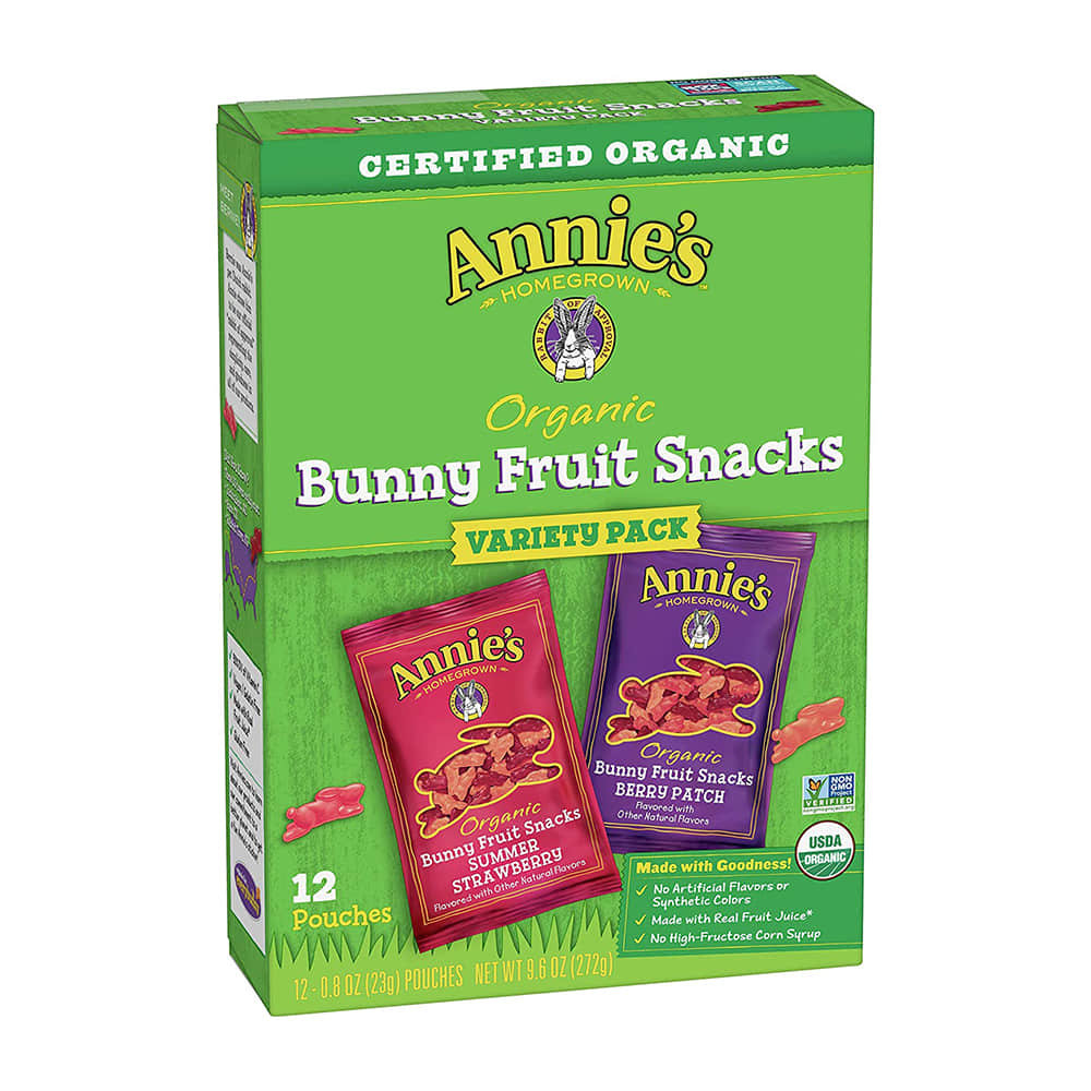 Annie's Homegrown, Organic Bunny Fruit Snacks, Variety Pack, 12 Pouches (272g)