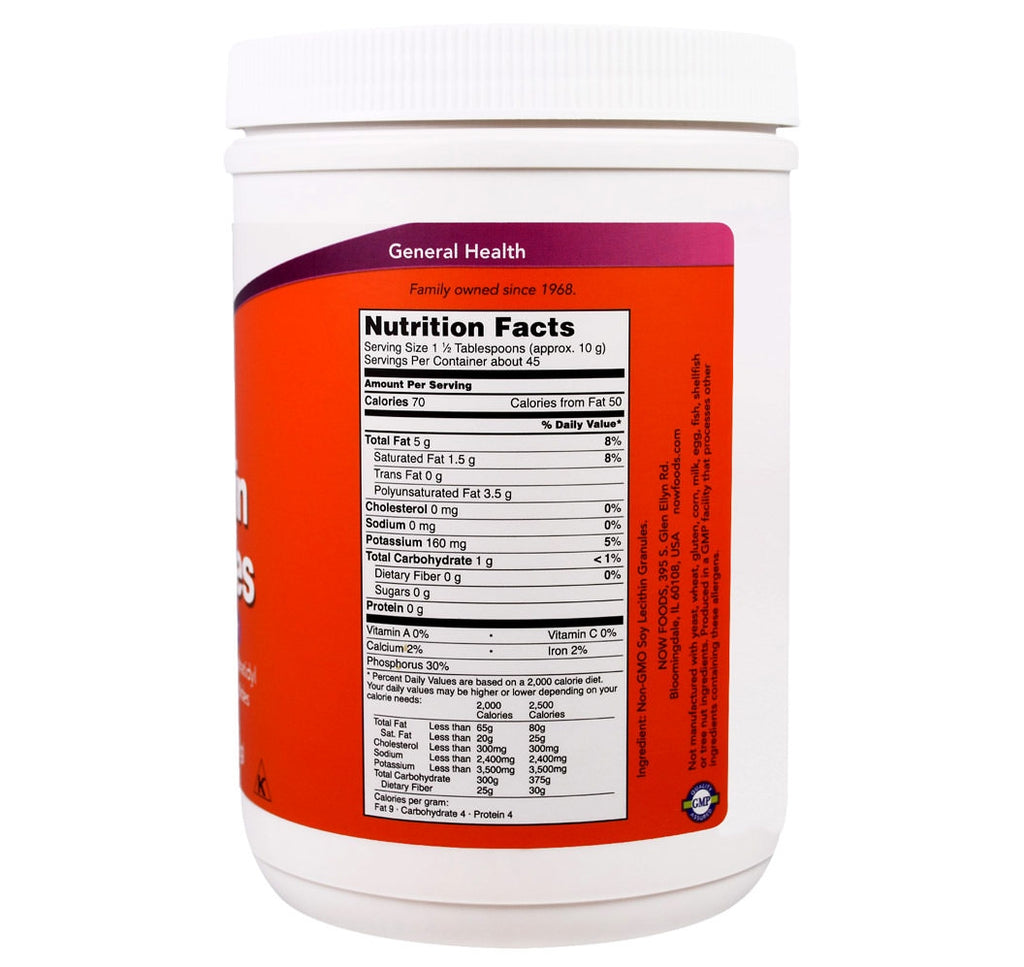 Now Foods, Lecithin Granules (454g) - Hu Organics