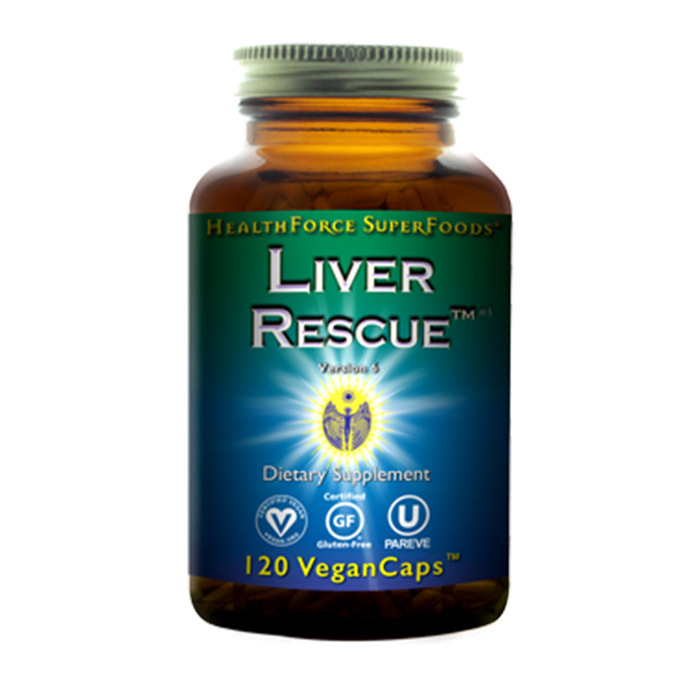 HealthForce Superfoods, Liver Rescue, Version 6, 120 Vegan Caps - Hu Organics