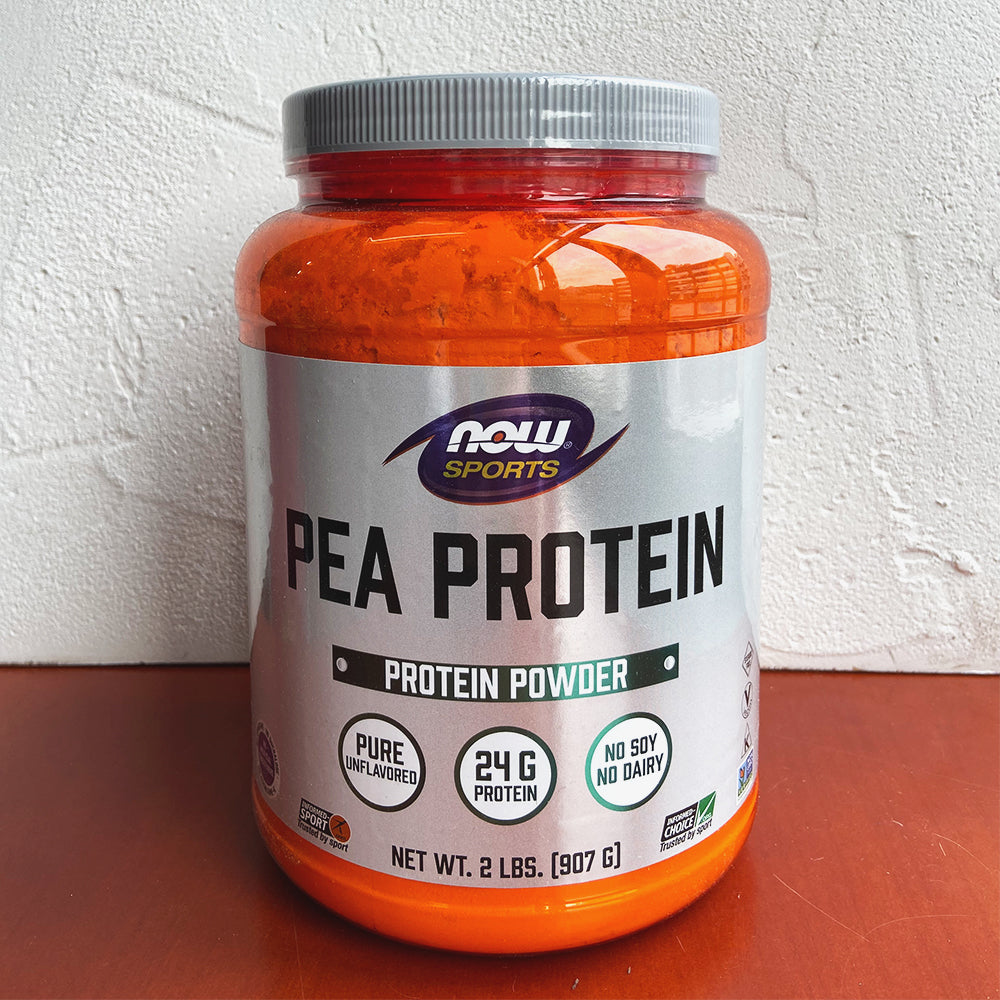 Now Foods, Pea Protein, Pure Unflavored (907g) - Hu Organics