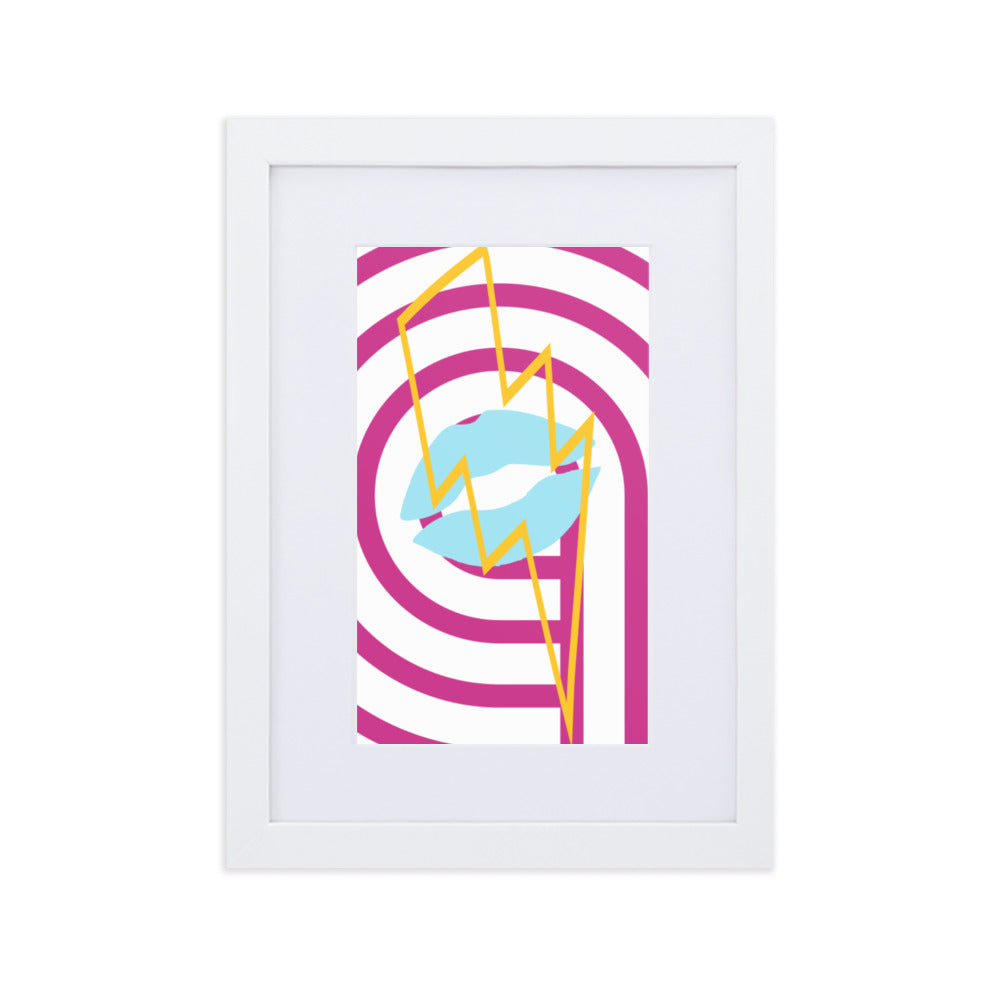 #1 Matte Paper Framed Poster With Mat