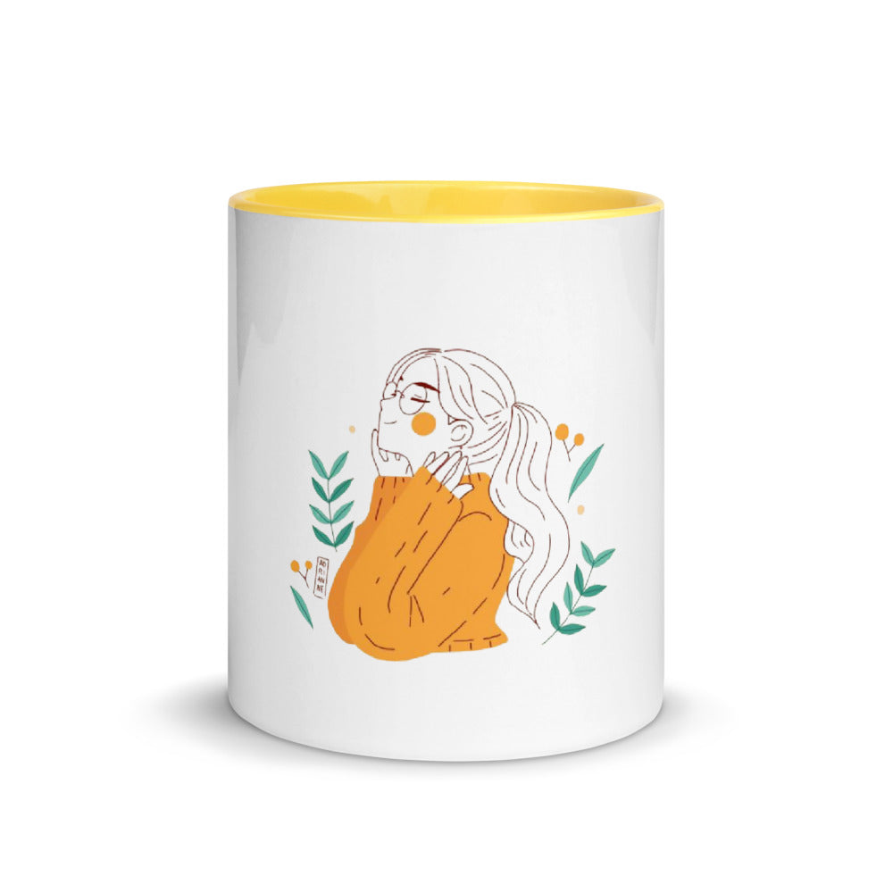 Girl with glasses mug