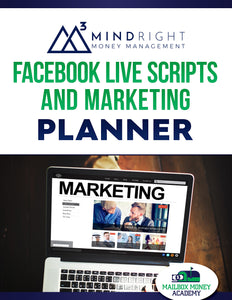 Facebook Live Script and Marketing Planner